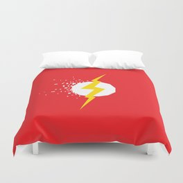 Square Heroes - Flash Duvet Cover