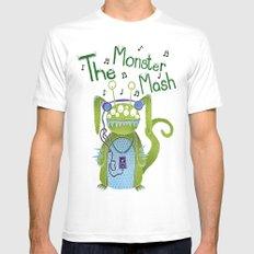 The Monster Mash MEDIUM Mens Fitted Tee White