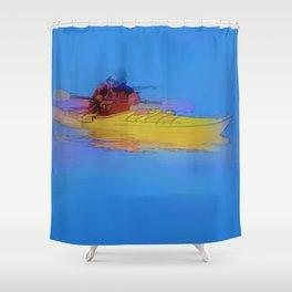 Touching Heaven    -   Kayaker Shower Curtain