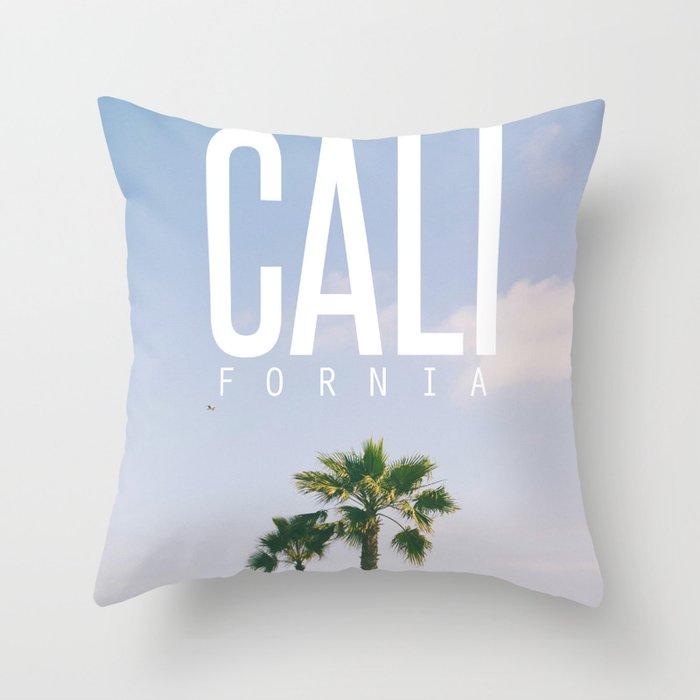 CALI FORNIA Throw Pillow
