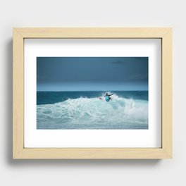 Kelly Slater at pipemasters 2013, hawaii Recessed Framed Print