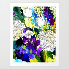 forest flowers 1 Art Print