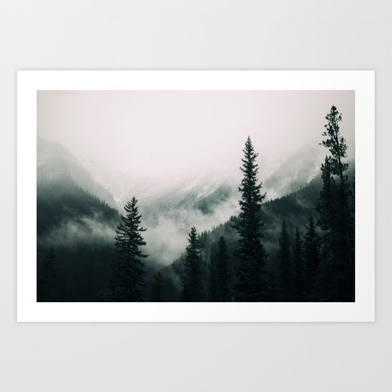 Over the Mountains and trough the Woods -  Forest Nature Photography by staypositivedesign