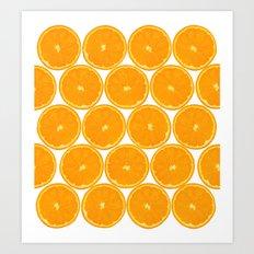 Orange Fruit Pattern Art Print