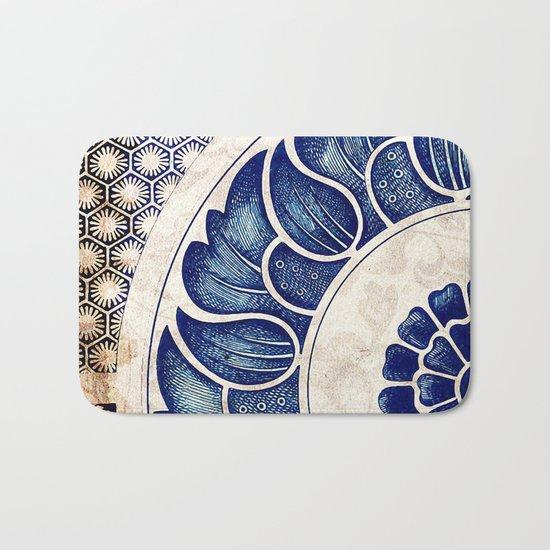 Blue Oriental Vintage Tile 05 Bath Mat