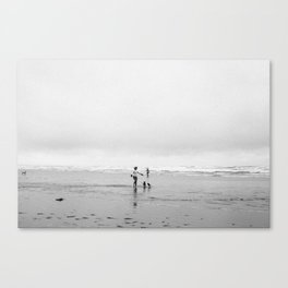 Dogs on Sumner Beach Canvas Print