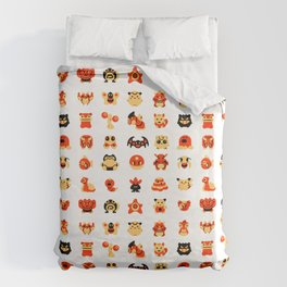 The Boys Are Back In Town Duvet Cover