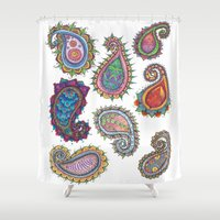paisley Shower Curtains featuring Paisley by WelshPixie