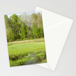 Spring marsh Stationery Cards