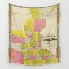 Chapman's New Sectional Map of Minnesota (1856) Wall Tapestry