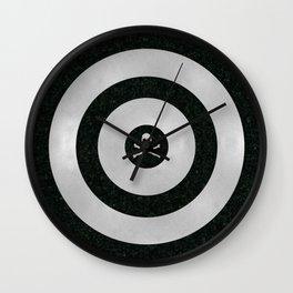 Silver Target Wall Clock
