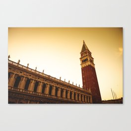 St. mark's bell tower in venice Canvas Print