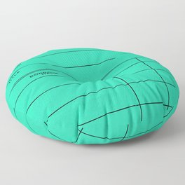 Library Card BSS 28 Turquoise Floor Pillow