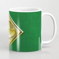 power ranger Mugs featuring Green Ranger by Joshua Epling