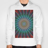 fractal Hoodies featuring Peacock fractal by David Zydd