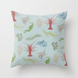 Seaweed Graphics Throw Pillow