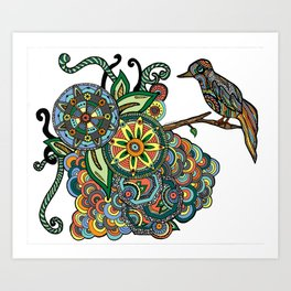 A Colorful Little Birdie Told Me So Art Print