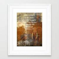 mandela Framed Art Prints featuring Mandela by Shalisa Photography