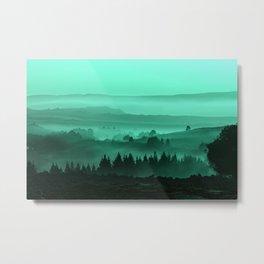 My road, my way. Turquoise. Metal Print