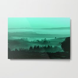 My road, my way. Turquoise. Metal Print