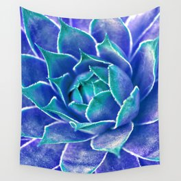 Suculenta Azul Wall Tapestry