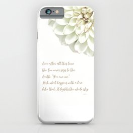Poetry by Hafiz - artwork iPhone Case