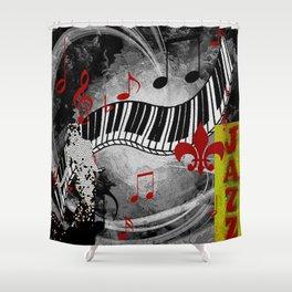 JAZZ PIANO KEYBOARD MUSIC Shower Curtain