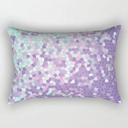 Aqua and Violet Purple Mosaic Rectangular Pillow