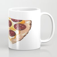 pizza Mugs featuring Pizza by Sartoris ART