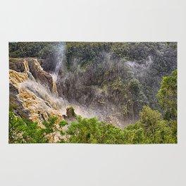 Roaring water at Barron Falls Rug
