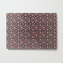 roses on indigo background, watercolour Metal Print