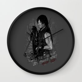 Daryl Dixon from The Walking Dead Wall Clock