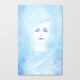 Hail to the winter Canvas Print