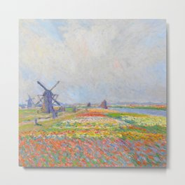 "Claude Monet ""Tulip Fields near The Hague"" Metal Print"