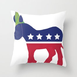 Wheres the Party at Democrat Throw Pillow
