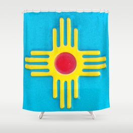 Zia Sun God  Shower Curtain
