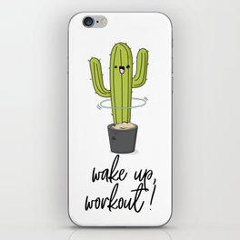 Cactus workout iPhone Skin