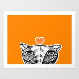 Fox O Art Print