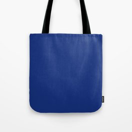 Solid Bright Lapis Blue Color Tote Bag