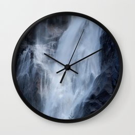 Misty Waterfall Wall Clock