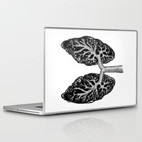 lungs Laptop & iPad Skins featuring Corrupted Lungs by Other People's Characters