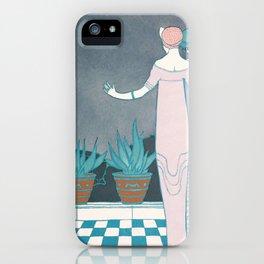 art deco decoration retro usa los angeles america 30s dresses woman sex iPhone Case