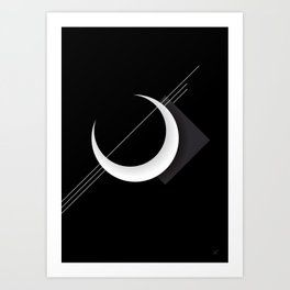 Moon Caos Art Print