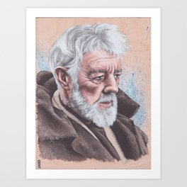 Ben Obi-Wan Kenobi Art Print