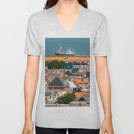 Famous dutch dyke I Den helder I Holland I live below waterlevel I Art print I Travel photography Unisex V-Neck