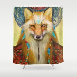Wise Fox Shower Curtain