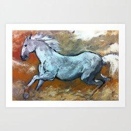 Cavallo bianco Art Print