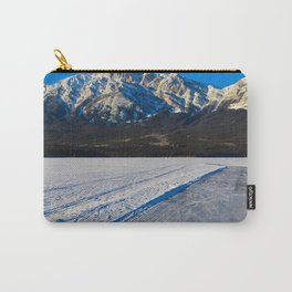 Pond hockey & Skating on Pyramid Lake in Canada Carry-All Pouch