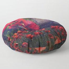 Celestial Poppy Field Floor Pillow