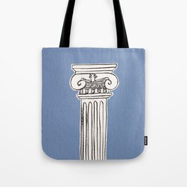 Greek ionic column Tote Bag
